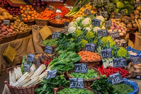 Colorful vegetables at market