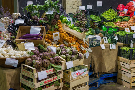 Colorful fresh produce