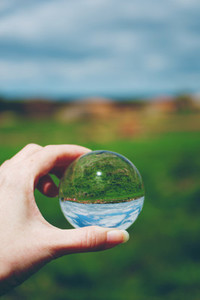 nature and crystal ball