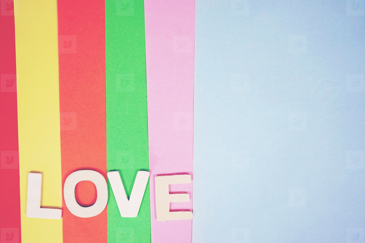 Love colorful background