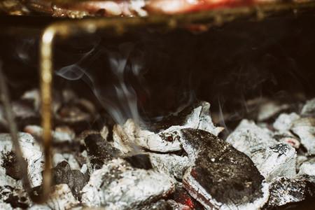 Charcoal and smoke background