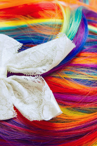 Rainbow hair texture