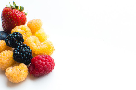 Colorful healthy fresh berries