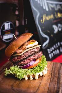 Double beef burger