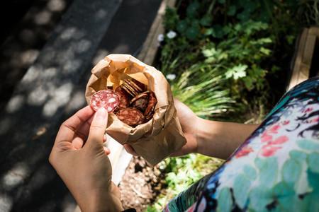 Dried salami snack