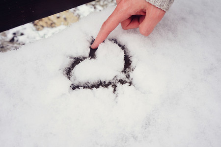 Hand drawing heart