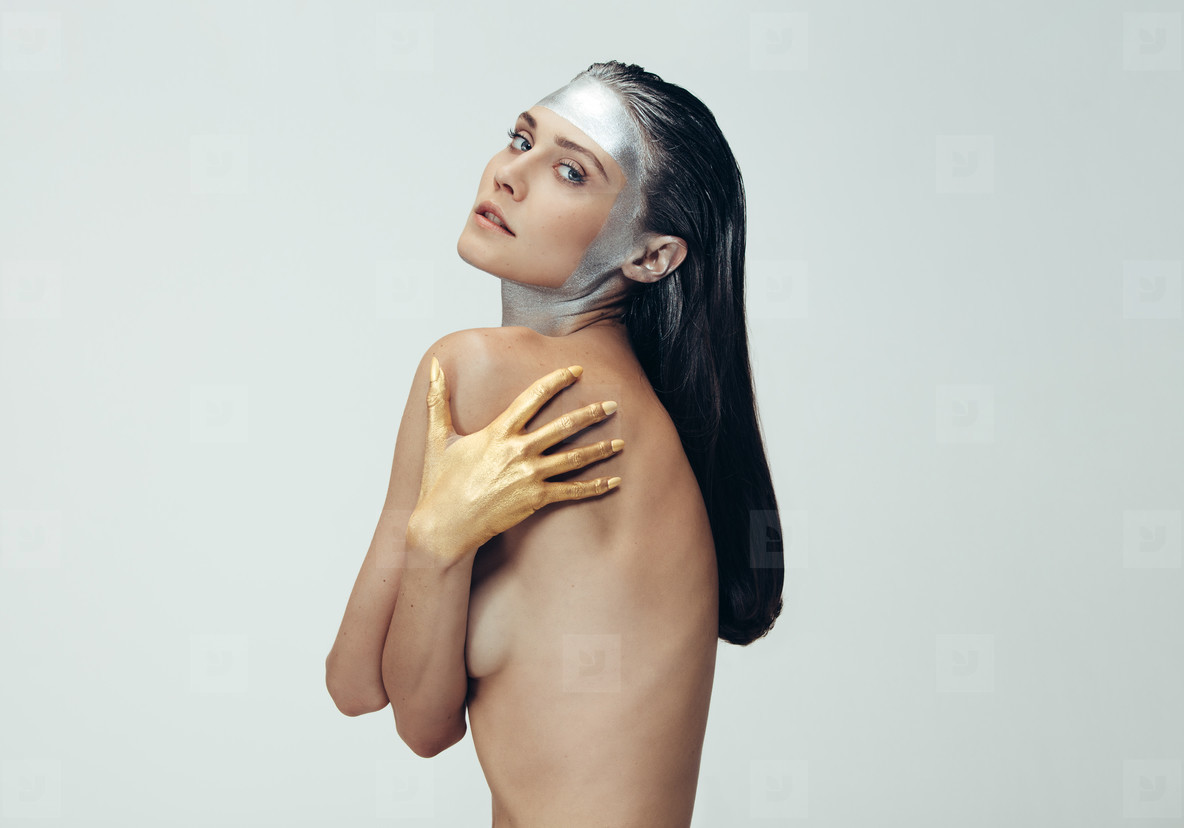 Sensual woman with ultra vogue makeup