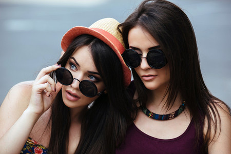 Two young beautiful