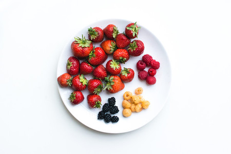 Healthy fresh berries on a plate