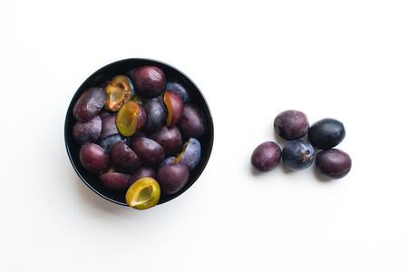 Fresh organic plums