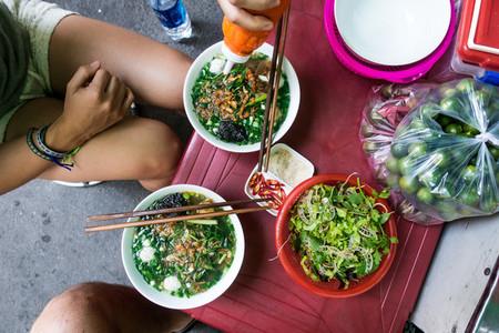 Eating Vietnamese soup
