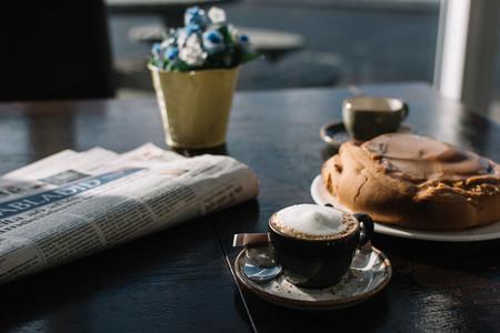 Espresso macchiato with caramel