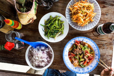 Fresh healthy Vietnamese food
