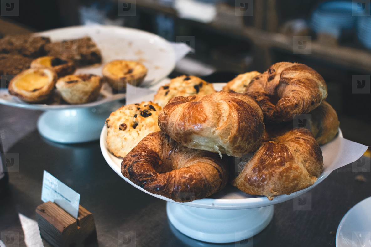 French croissants and pastry
