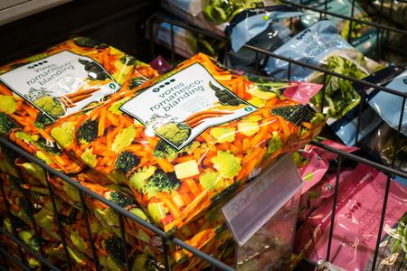 Frozen vegetable mix in supermar