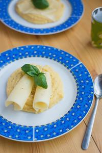 Italian corn polenta with cheese
