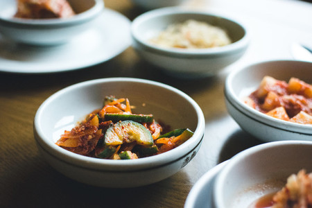Korean bowl of fermented vegetab