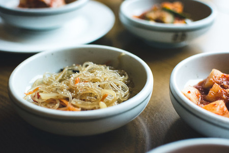 Korean bowl of fermented vegetab