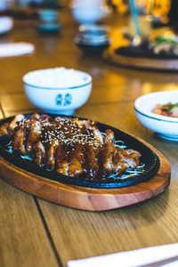 Korean crispy duck with honey sa
