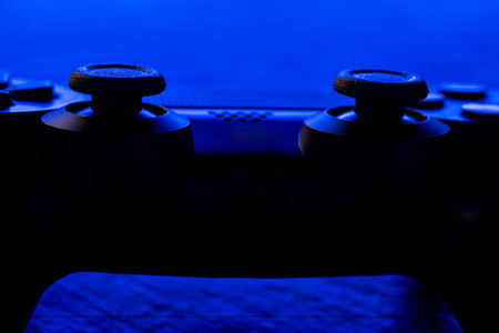 Video game controller night with lights