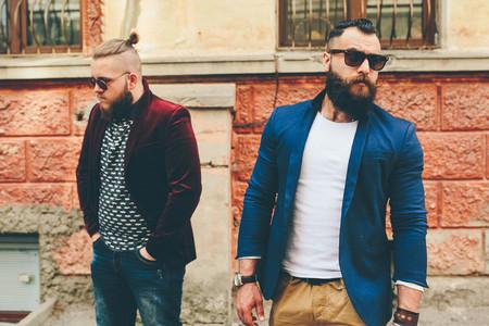 Two stylish bearded men