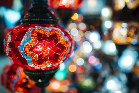 Beautiful turkish mosaic lamps