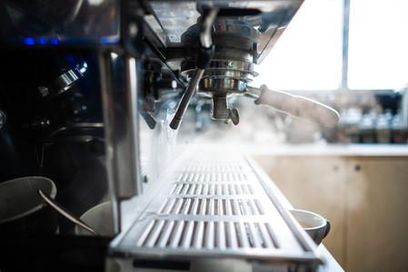 coffee machine in a bar close up