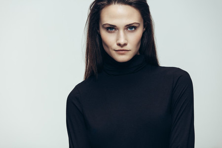 Female model with intense look