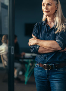 Mature business woman in casuals at office