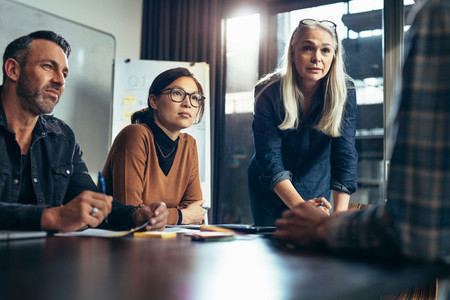 Executives brainstorming ideas