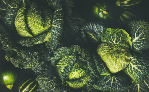Raw fresh green cabbage texture and background
