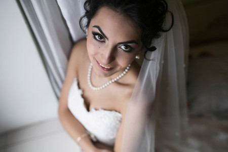 Preparation of adorable bride