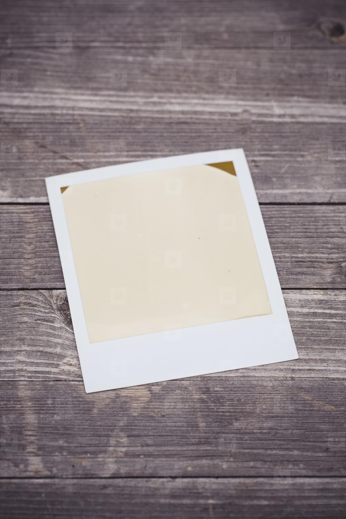 analog polaroid  instant camera