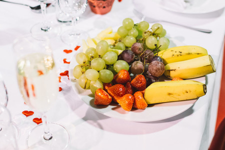 Fruit plate on a wedding party