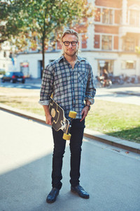 Hipster style portrait of young man