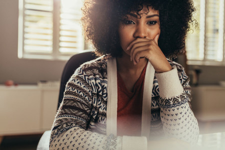 Pondering female designer thinking on creative ideas