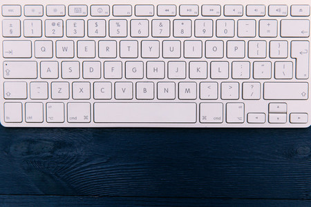 Computer keyboard wood office desk