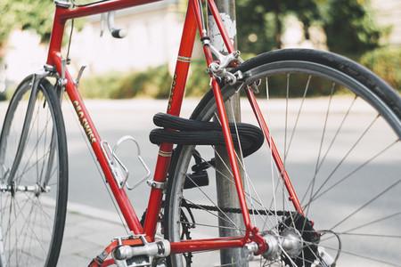 locked urban hipster bike