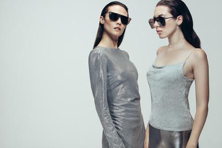 Two women in funky look