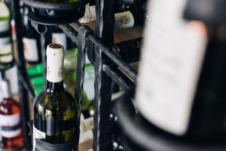 Bottles of wine in wineshop