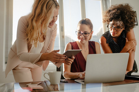 Group of businesswoman working over a new project