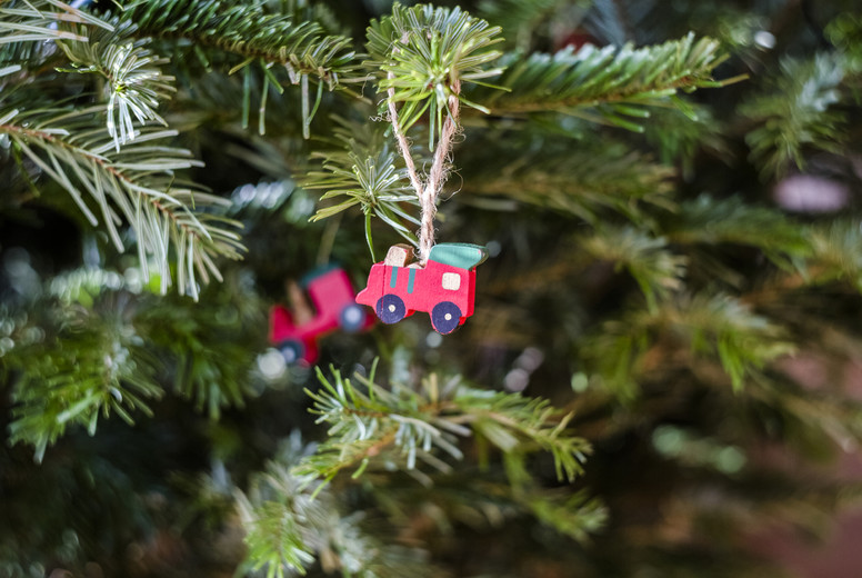 handmade christmas holly decoration