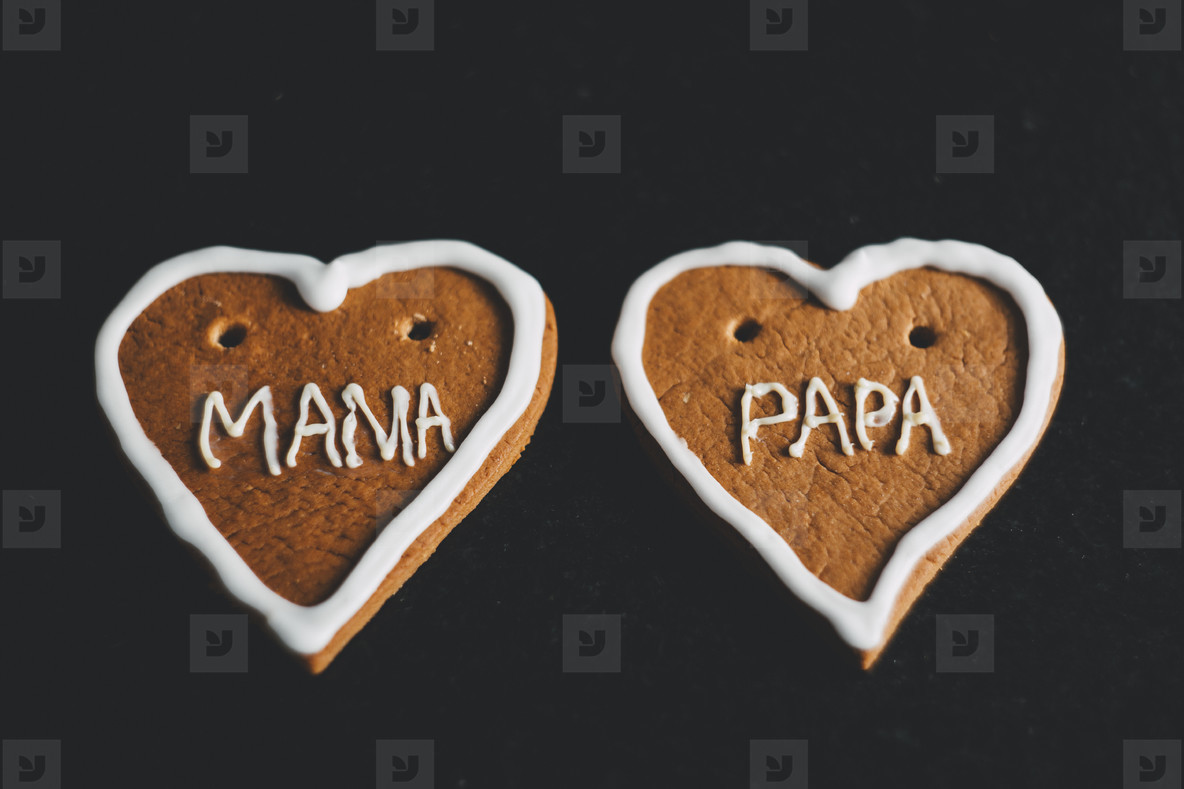 gingerbread heart mama papa