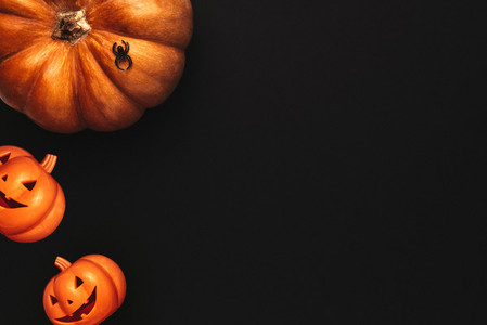 Halloween flat lay design