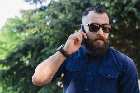 bearded speaks by phone