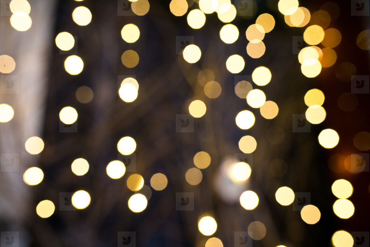 Background with garland bokeh