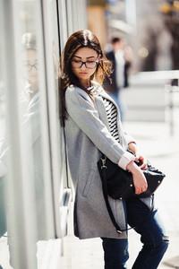 Beautiful model on shopping
