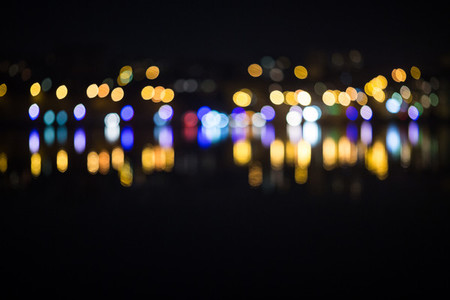 Night city bokeh Out focus traffic