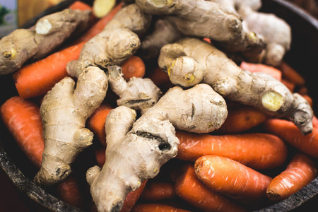 Ginger root and carrot