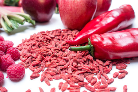 Goji and other red fruit